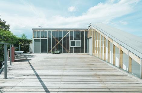 栃木県宇都宮市にある小さなフォトスタジオ、イマピクト。テラス