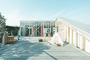 栃木県宇都宮市のフォトスタジオ、イマピクトの2Fテラス。