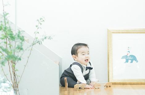 栃木県宇都宮市のフォトスタジオ、イマピクトのハーフバースデー、6ヶ月