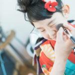 さあやちゃん7歳、七五三、メイク、JAPAN STYLEの着物で - 宇都宮のフォトスタジオ イマピクトで