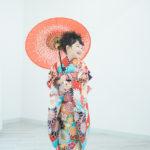 さあやちゃん7歳、七五三、番傘、JAPAN STYLEの着物で - 宇都宮のフォトスタジオ イマピクトで