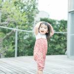 りおんちゃん2歳、テラスでの撮影