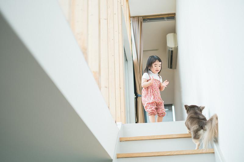 りおんちゃんとメル、階段
