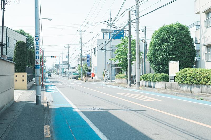 宇女商通りと和尚塚通りの分岐信号から1つの信号を右折