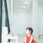 1歳バースデー撮影!赤のドレスで - 宇都宮のフォトスタジオ イマピクトで
