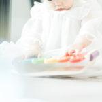 1歳バースデーの撮影!真剣な眼差し - 宇都宮のフォトスタジオ イマピクトで