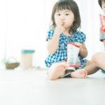 2歳キッズ、お菓子休憩中! - 宇都宮のフォトスタジオ イマピクトで