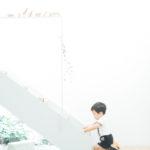 キッズ、2歳バースデー!電車のおもちゃで遊ぶ - 宇都宮のフォトスタジオ イマピクトで
