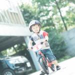 キッズ、3歳バースデー!スタジオ前でストライダーで遊ぶ - 宇都宮のフォトスタジオ イマピクトで