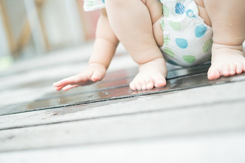 がくくん、1歳6ヶ月!水遊び、ぴちぴち