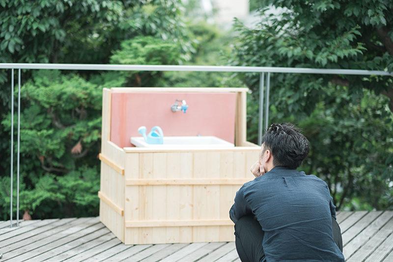 庭先DIY、露天風呂みたいになっちゃった