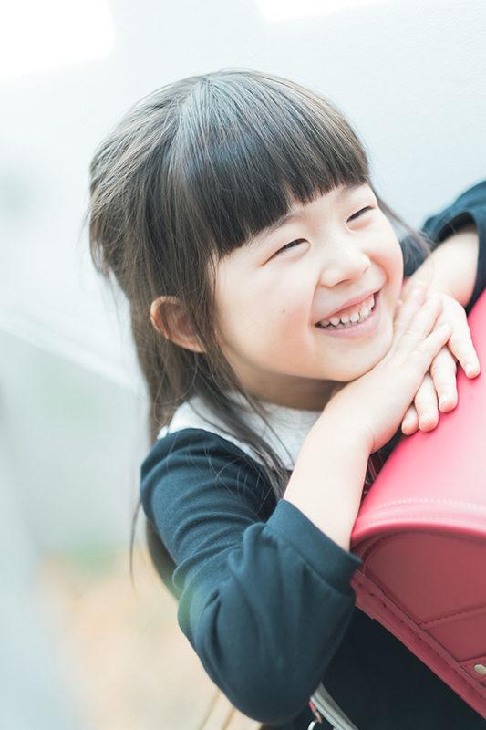 ゆうみちゃん、入学。ランドセルと一緒に。