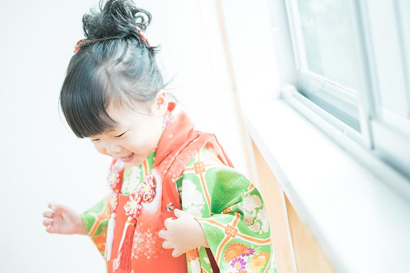 ちあちゃん、3歳の七五三!可愛い着物