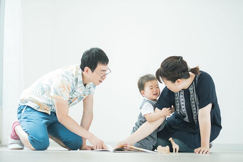 たけちゃん、1歳バースデー!家族写真