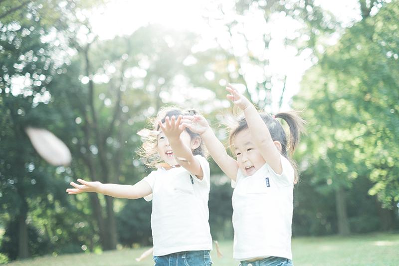 栃木県立中央公園、キッズロケーションフォト!姉妹で遊ぶ