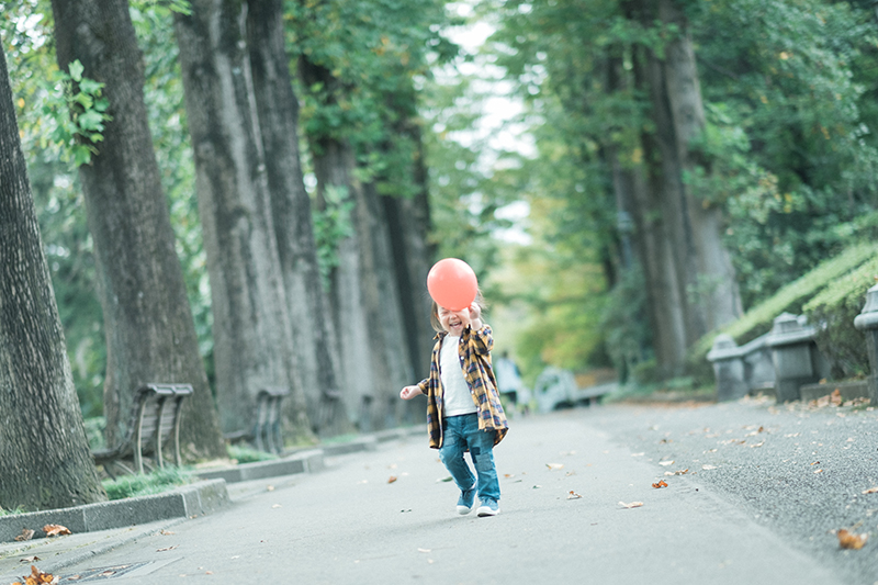 栃木県立中央公園、キッズロケーションフォト!風船で遊んでみたり