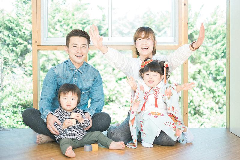 かのんちゃん、3歳七五三!家族写真!