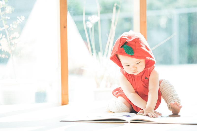みのりちゃん!1歳のバースデー!りんご