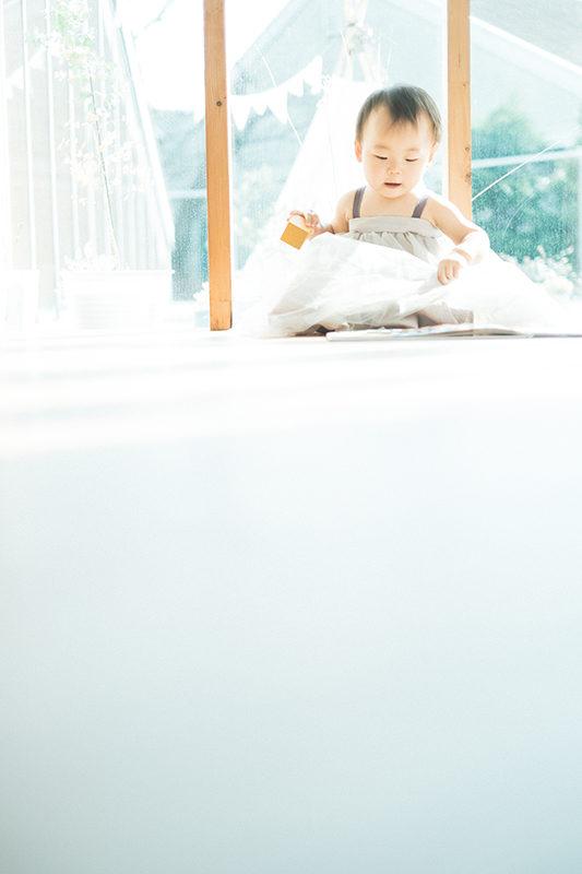 ゆいちゃん、1歳バースデー!かわいいワンピースで
