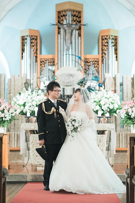 ウエディング、宇都宮の松が峰教会で挙式。撮影タイム!