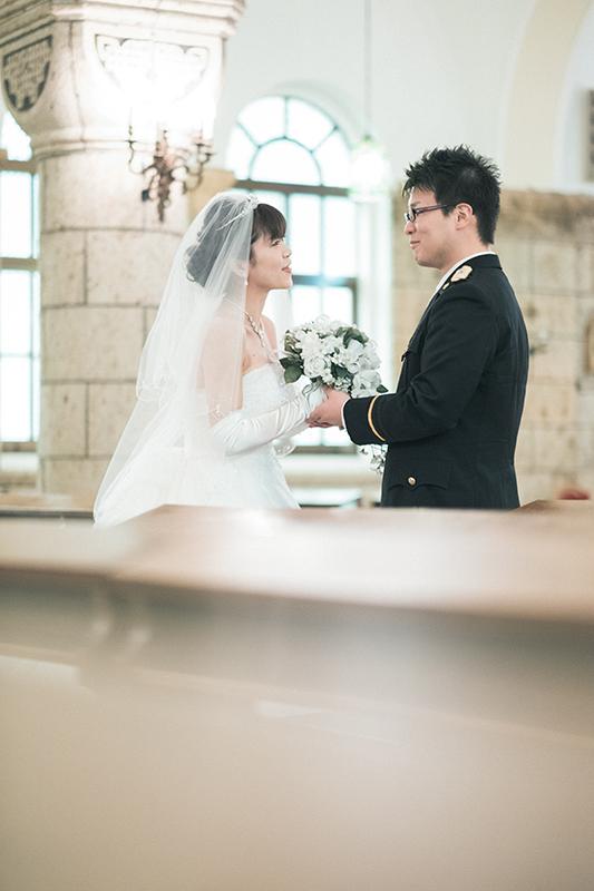 ウエディング、宇都宮の松が峰教会で挙式。撮影タイム!末永くお幸せに