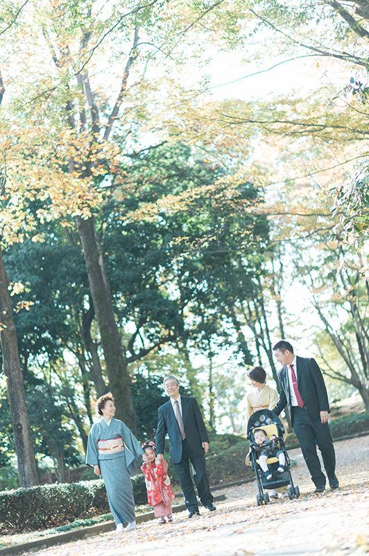 栃木県中央公園、3歳七五三ロケーション撮影!ちはなちゃん!みんなでてくてく