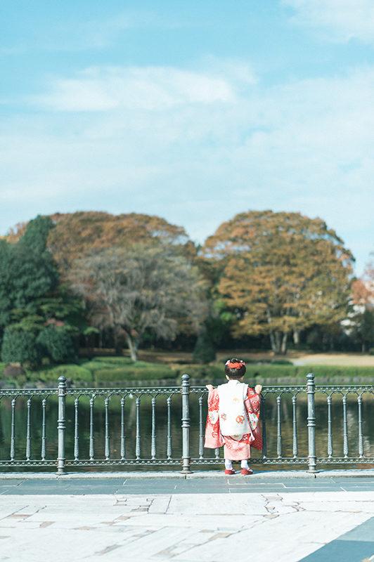栃木県中央公園、3歳七五三ロケーション撮影!ちはなちゃん!青空最高