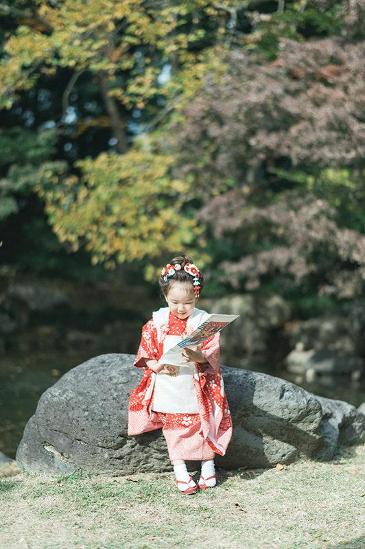 栃木県中央公園、3歳七五三ロケーション撮影!ちはなちゃん!千歳飴