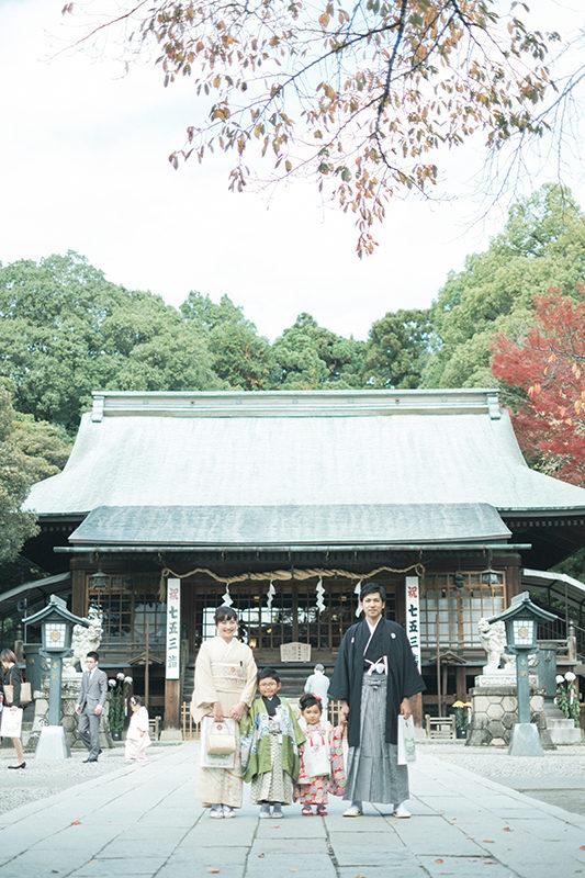 宇都宮二荒山神社、七五三出張ロケーション撮影!家族写真