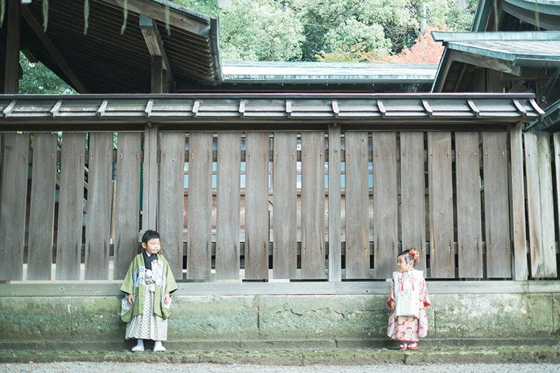 宇都宮二荒山神社、七五三出張ロケーション撮影!兄弟写真