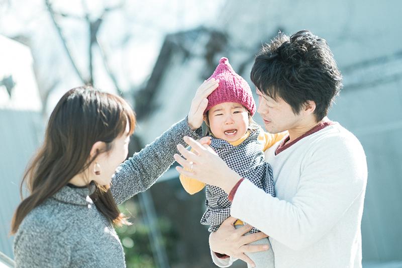 ひなちゃん、家族写真!泣き顔も可愛い