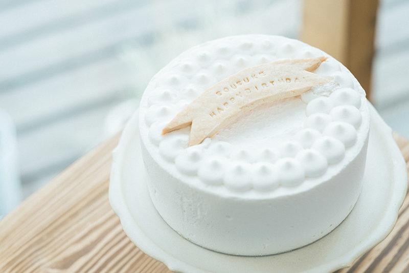 バースデーフォト、そうすけくん!手作りバースデーケーキ