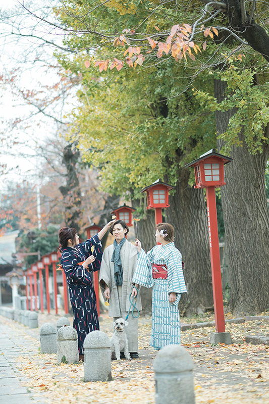 栃木県小山市、美容室Lab様プロモーション用モデル撮影、法人向け撮影イメージカット 着物ロケーション