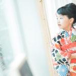 7歳七五三、モダンでおしゃれな着物 - 宇都宮のフォトスタジオ イマピクトで
