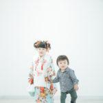 3歳七五三、姉弟で - 宇都宮のフォトスタジオ イマピクトで