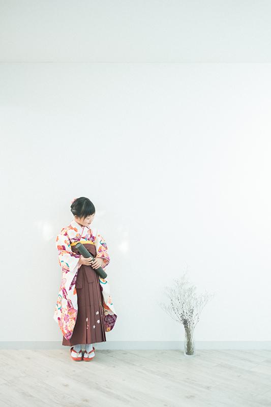 卒業袴、まなちゃん!