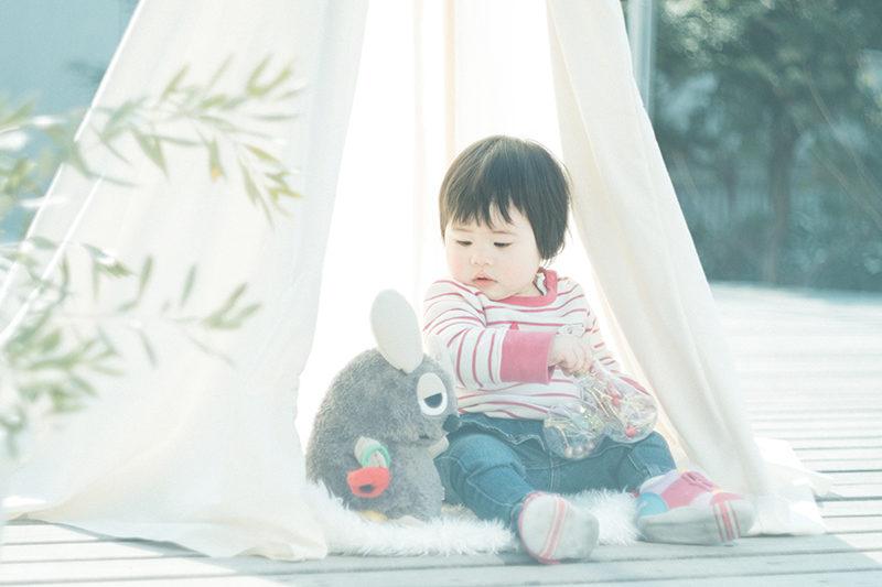 バースデーフォト、1歳、あずさちゃん!ティピーテント