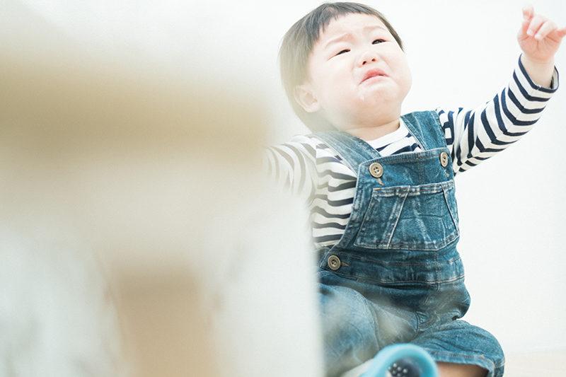 バースデーフォト、1歳、こうせいくん!泣き顔