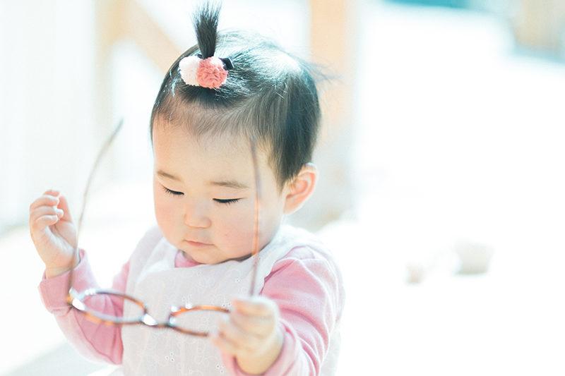 1歳バースデー、初節句、すいちゃん!伊達メガネ