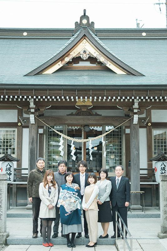 お宮参り出張ロケーション撮影、宇都宮八坂神社、りくくん!集合