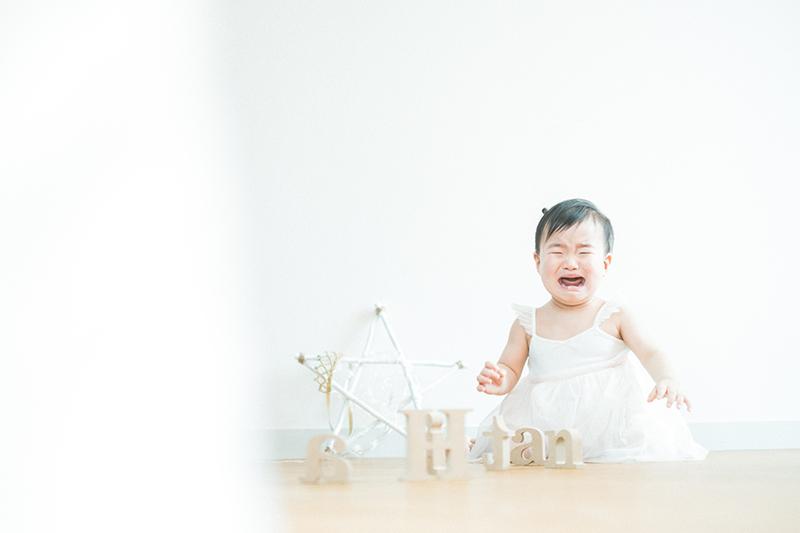 バースデーフォト、ひなたちゃん!号泣