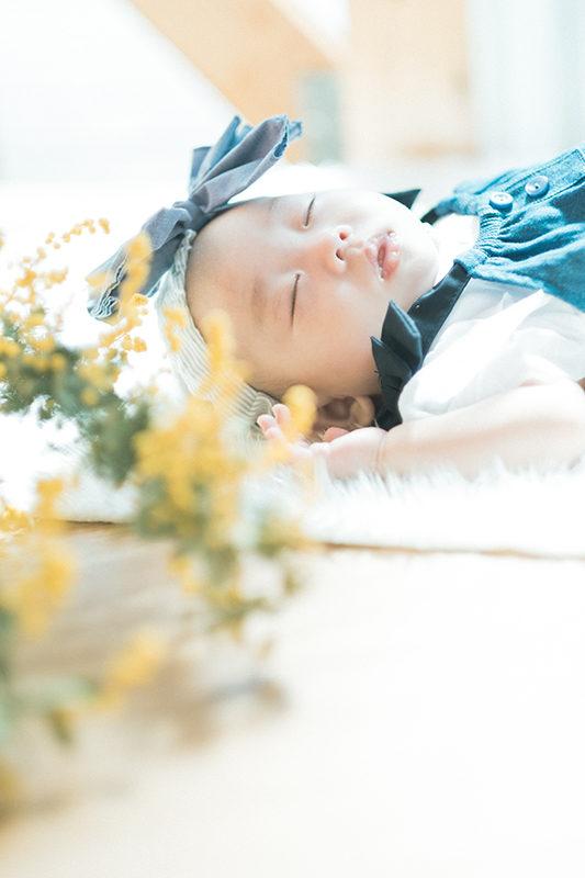 お宮参り、100日祝い、あかりちゃん!寝顔