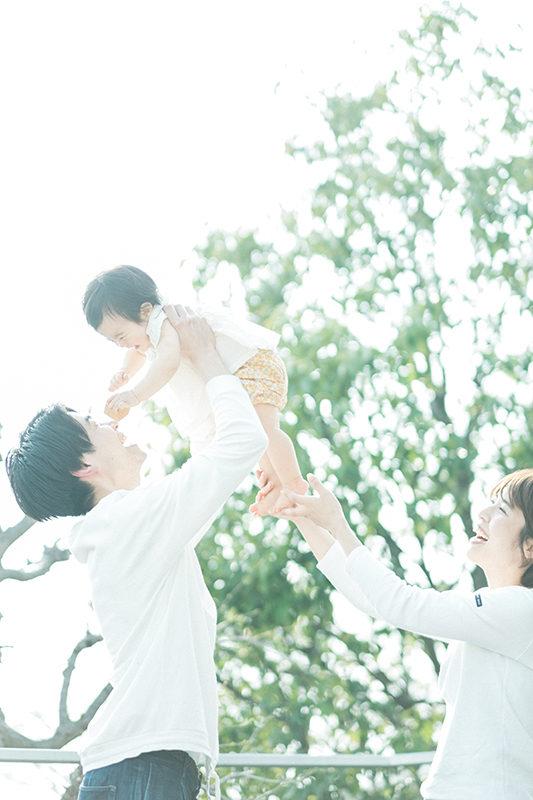 1歳バースデーフォト、さくらちゃん!家族写真