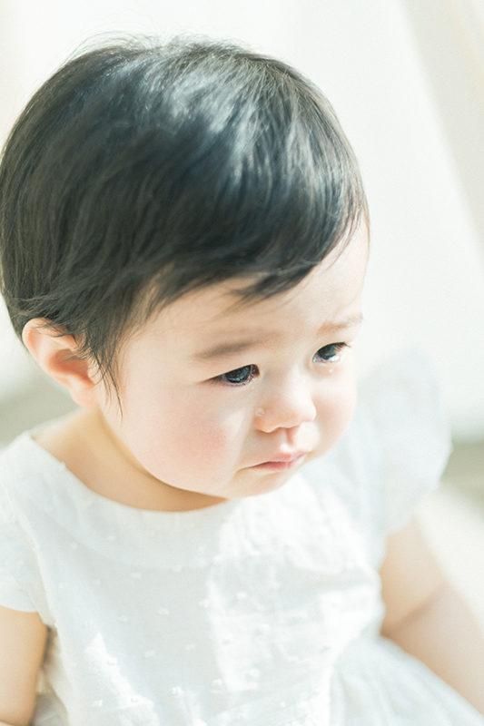 1歳バースデーフォト、さくらちゃん!泣き顔