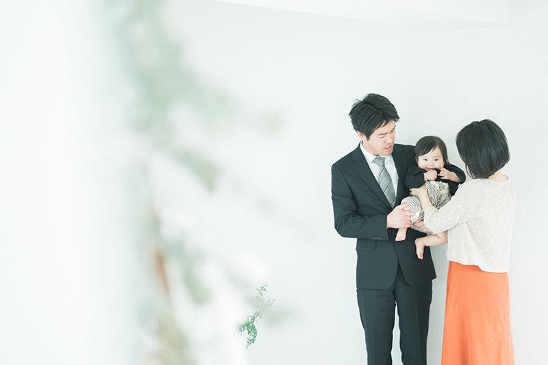 初節句、ともきくん!家族写真