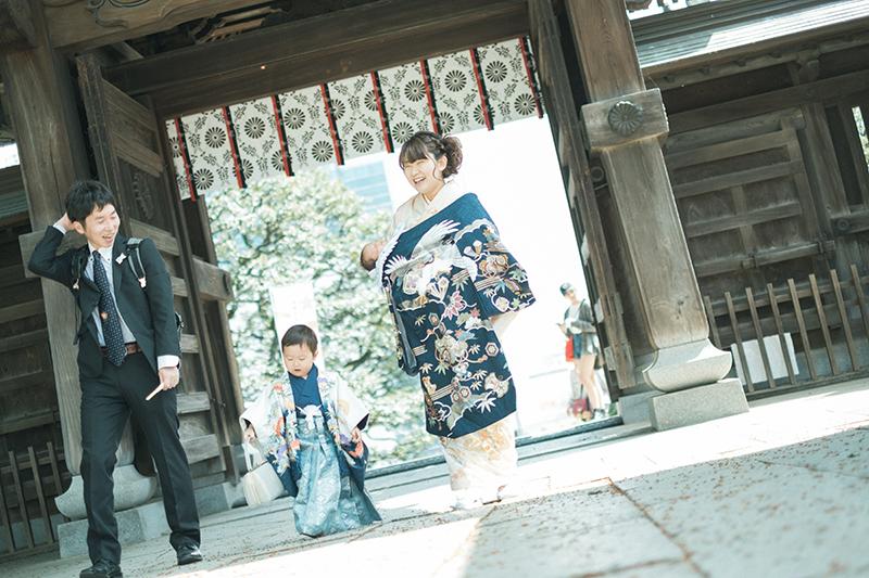 宇都宮二荒山神社、お宮参り出張ロケーション撮影、かなとくん!産着