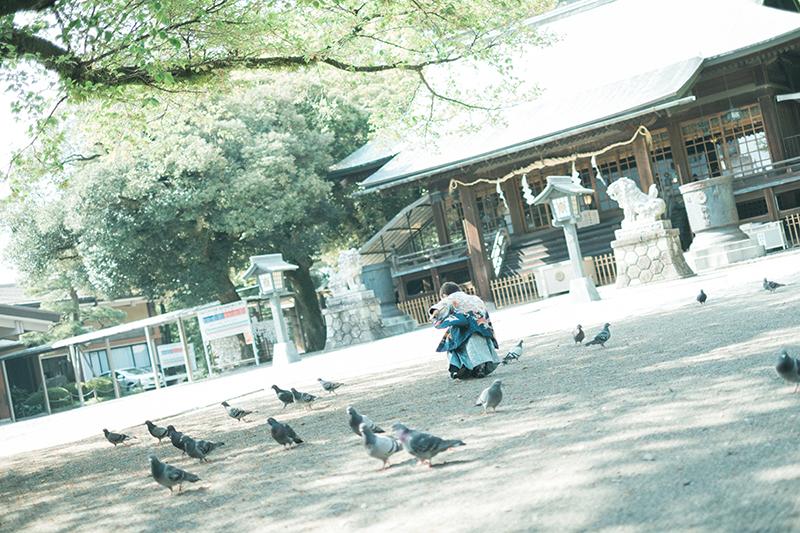 宇都宮二荒山神社、お宮参り出張ロケーション撮影、かなとくん!転ぶ