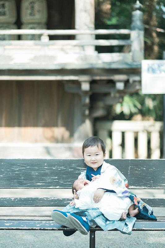 宇都宮二荒山神社、お宮参り出張ロケーション撮影、かなとくん!兄弟で