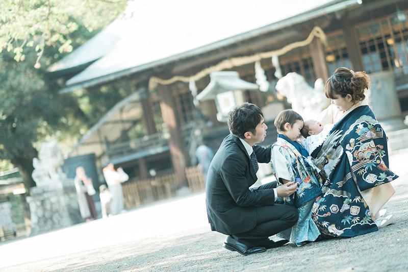 宇都宮二荒山神社、お宮参り出張ロケーション撮影、かなとくん!家族写真