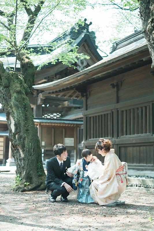 栃木県の出張撮影、お宮参り神社